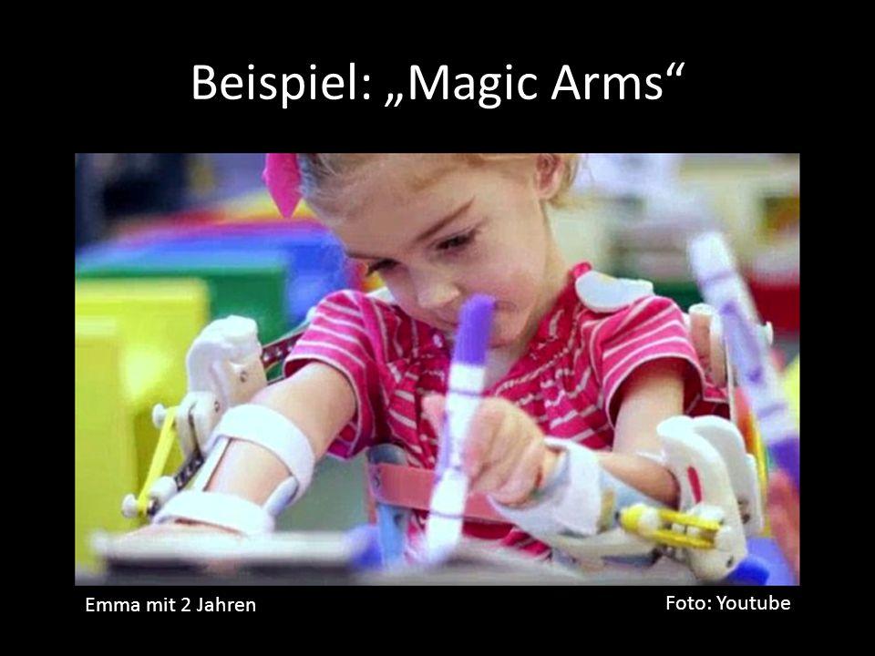 """Beispiel: """"Magic Arms Foto: Youtube Emma mit 2 Jahren"""