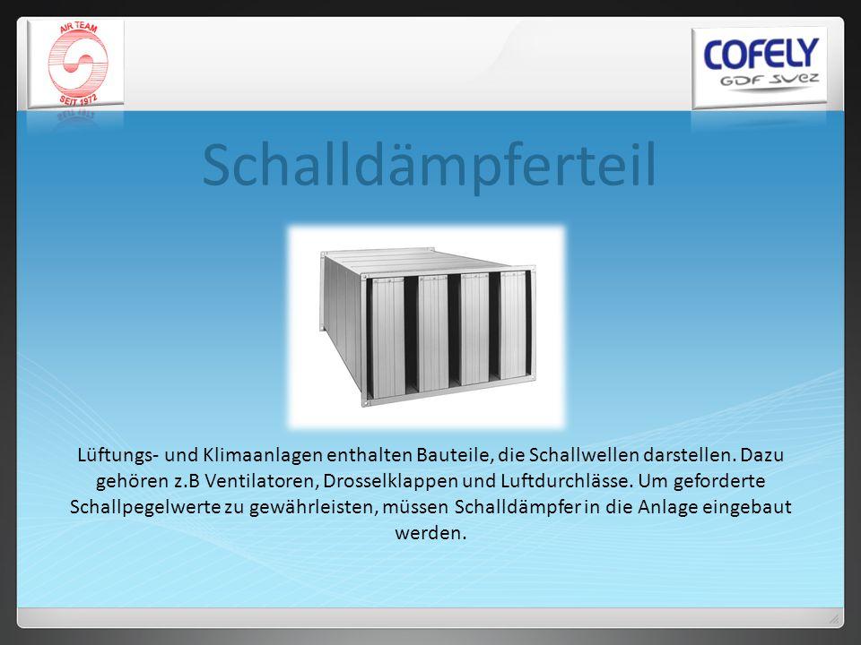 Schalldämpferteil Lüftungs- und Klimaanlagen enthalten Bauteile, die Schallwellen darstellen. Dazu gehören z.B Ventilatoren, Drosselklappen und Luftdu