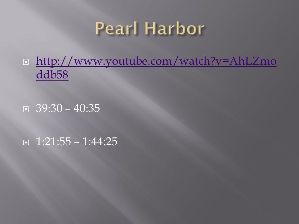  http://www.youtube.com/watch?v=AhLZmo ddb58 http://www.youtube.com/watch?v=AhLZmo ddb58  39:30 – 40:35  1:21:55 – 1:44:25