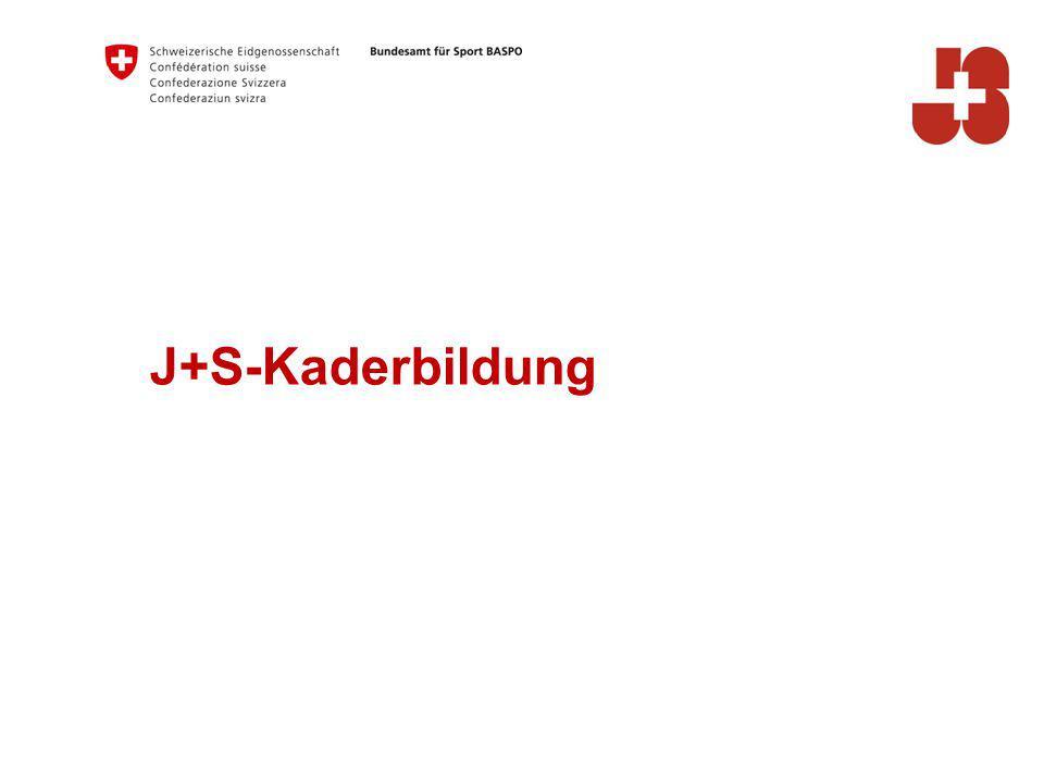 24 Bundesamt für Sport BASPO Jugend+Sport J+S-Kaderbildung: Ausbildungsstruktur Legen de Ausbildungsstufe J+S-Kurs J+S-Modul Verbands- Kurs Verbands- Modul Anschlussg efäss Prüfungsm odul Sportarten- u ̈ bergreifend es Modul