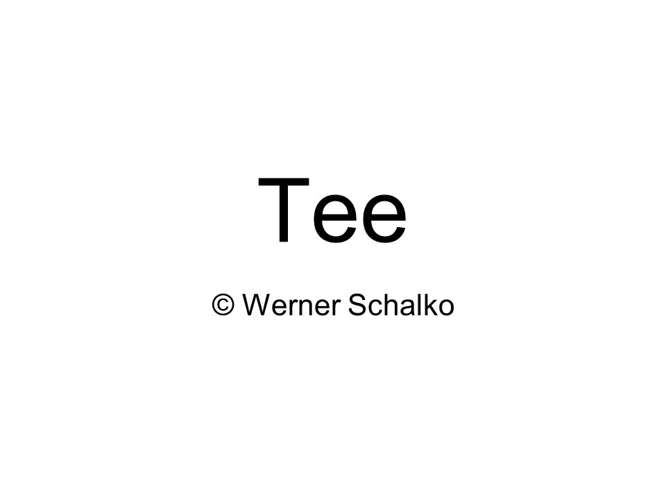Werner Schalko2 Der Teestrauch