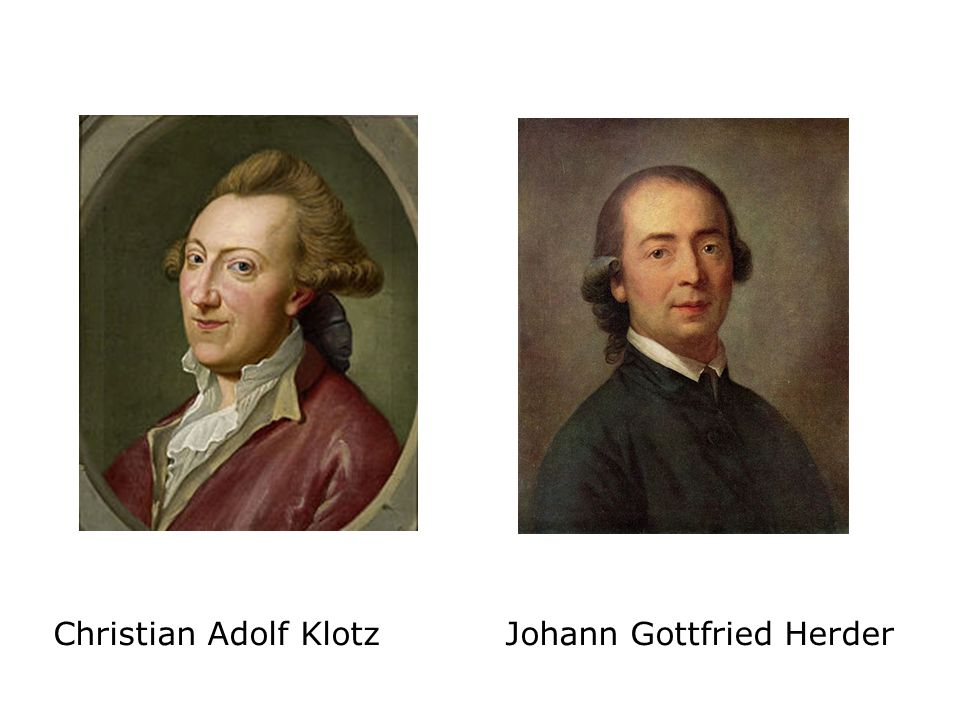 Christian Adolf Klotz Johann Gottfried Herder