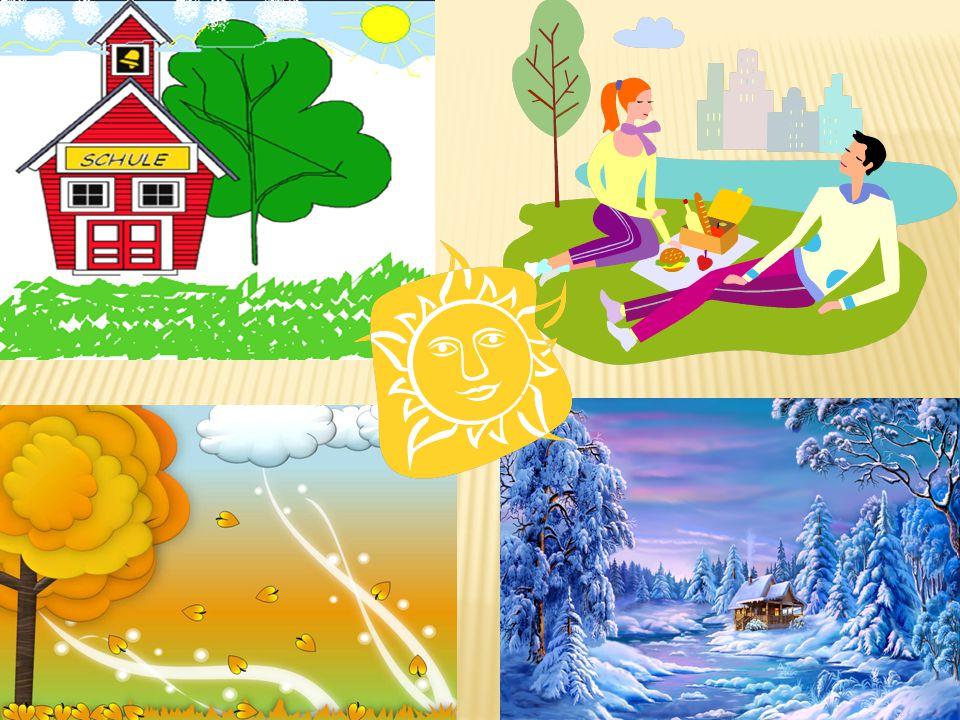 Der Winter ist da.Er beginnt im Dezember und dauert 3 Monate: Dezember, Januar, Februar.