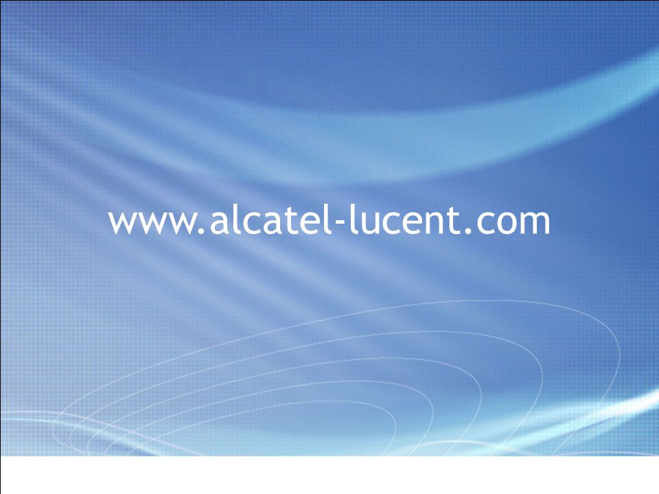 All Rights Reserved © Alcatel-Lucent 2006, ##### 9 | Presentation Title | Month 2006 www.alcatel-lucent.com