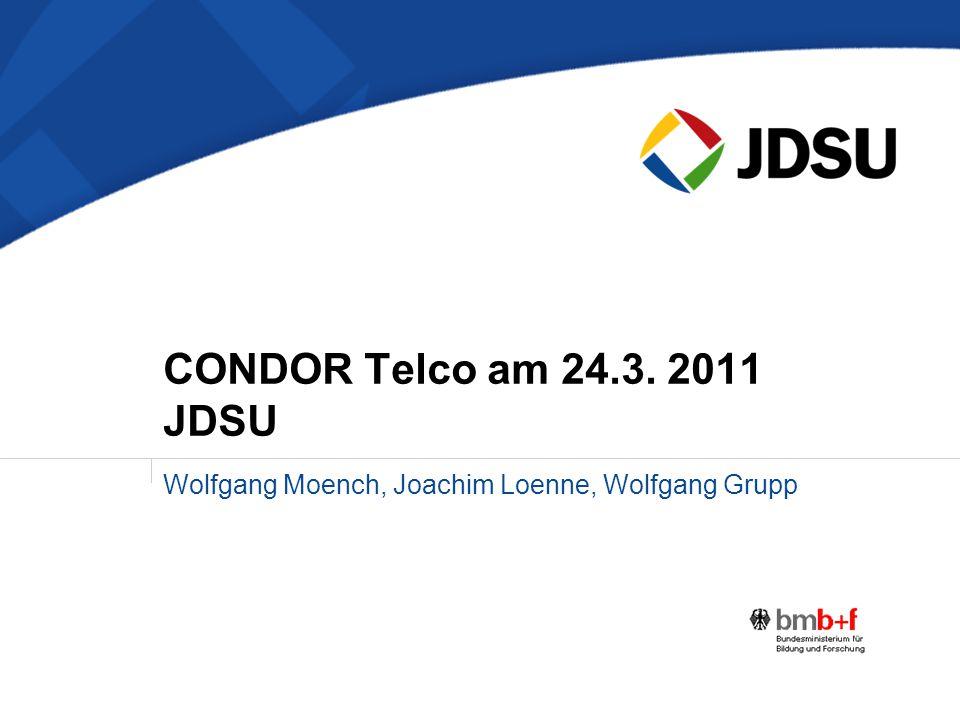 Wolfgang Moench, Joachim Loenne, Wolfgang Grupp CONDOR Telco am 24.3. 2011 JDSU