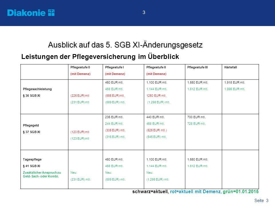Seite 4 4 schwarz=aktuell, rot=aktuell mit Demenz, grün=01.01.2015 Ausblick auf das 5.
