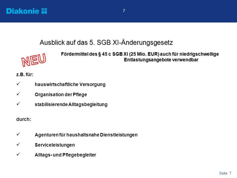Seite 8 8 Pflegevorsorgefond (wird von Deutscher Bundesbank in Frankfurt kostenfrei verwaltet) Mittelabführung durch BVA vierteljährlich zum 15.04., 15.07., 15.10.
