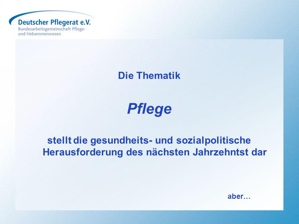 """Ein kurzer Rückblick… …aber die Politik machte Deutschland zum Schlusslicht in Europa… EU Entscheidung zur Pflegeausbildung """"Der deutsche Sonderweg ist im Kern Pflege- und Frauenfeindlich (Pressemitteilung des dip vom 16.10.2013)"""