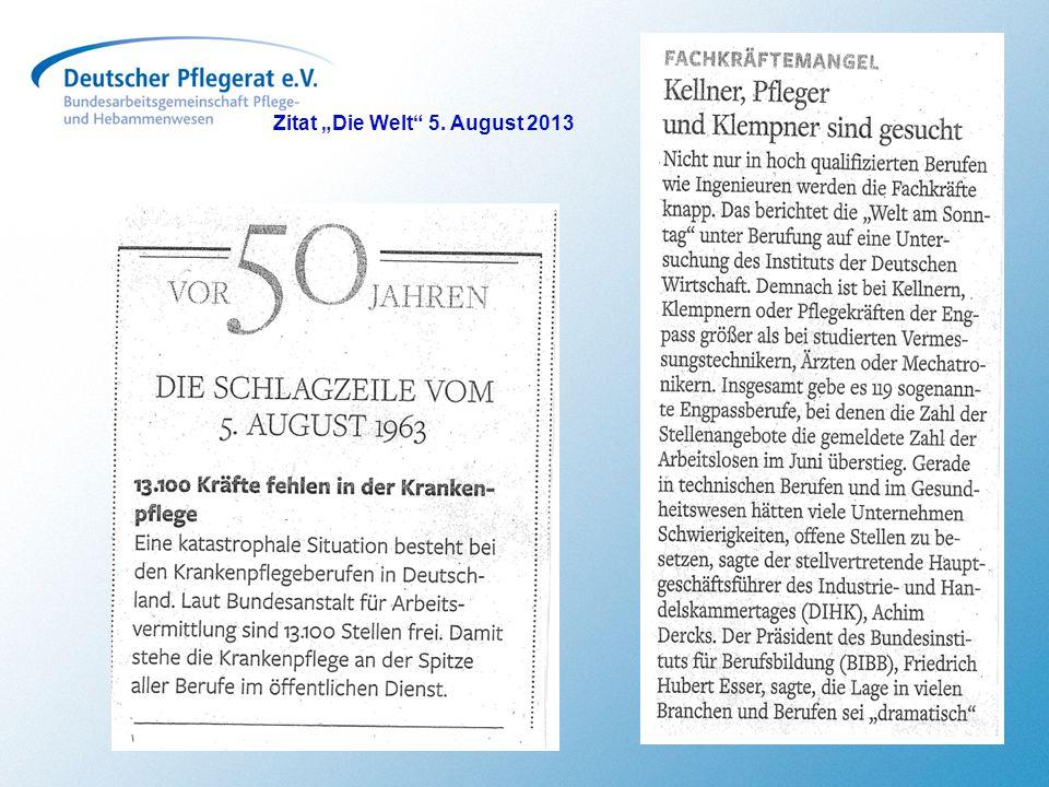 """Zitat """"Die Welt"""" 5. August 2013"""