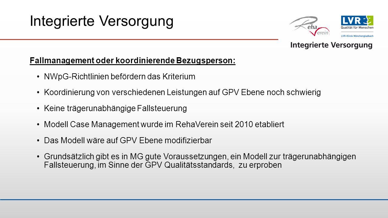 Integrierte Versorgung Fallmanagement oder koordinierende Bezugsperson: NWpG-Richtlinien befördern das Kriterium Koordinierung von verschiedenen Leist