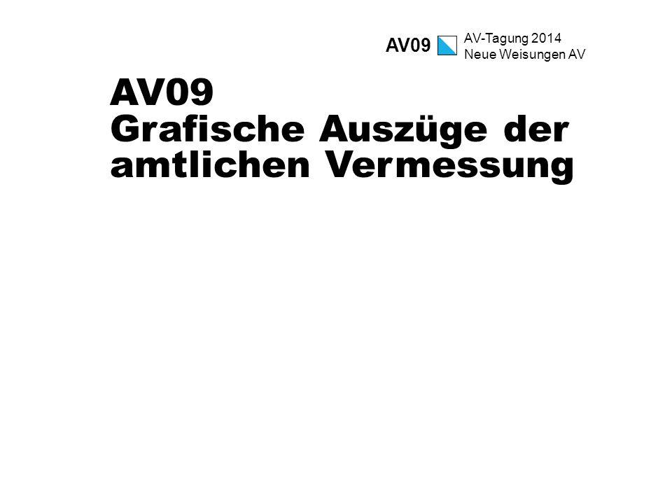 AV-Tagung 2014 Neue Weisungen AV AV09 Grafische Auszüge der amtlichen Vermessung AV09