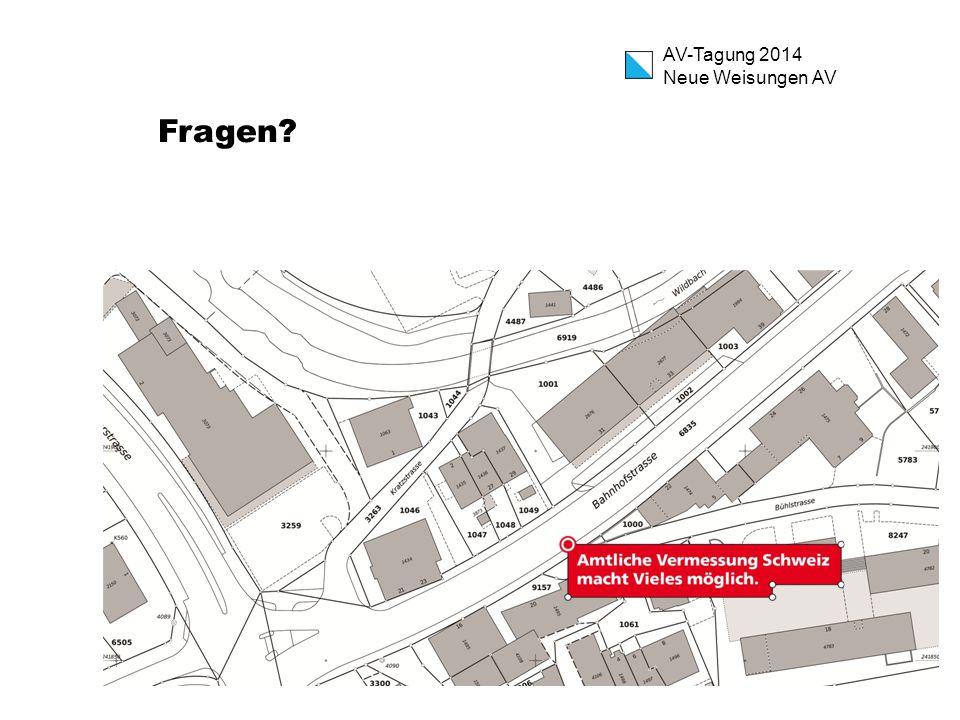 AV-Tagung 2014 Neue Weisungen AV Fragen?