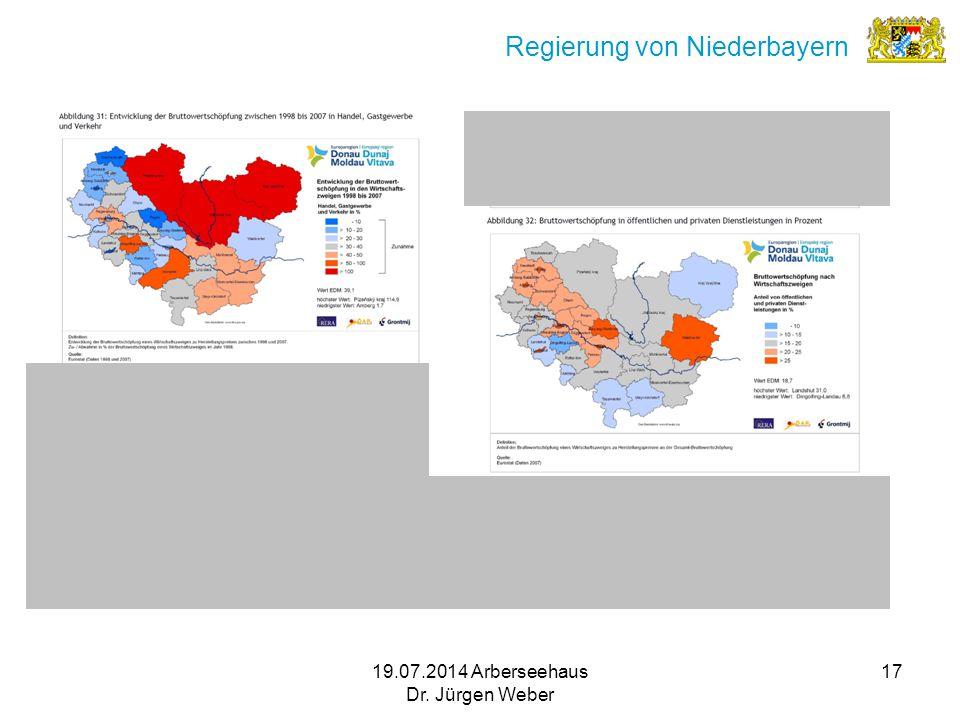 19.07.2014 Arberseehaus Dr. Jürgen Weber 17 Regierung von Niederbayern