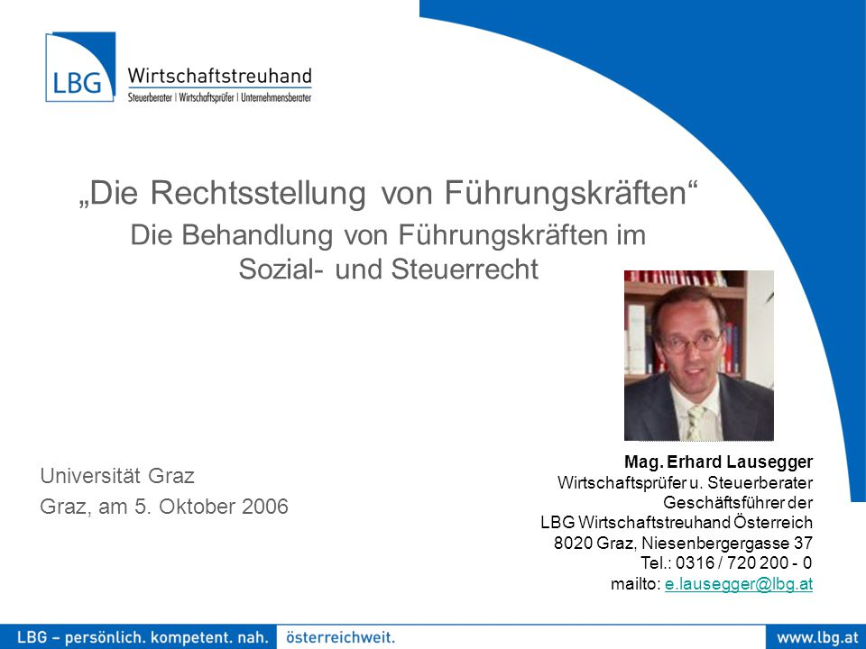 Foto Universität Graz Graz, am 5. Oktober 2006 Mag.