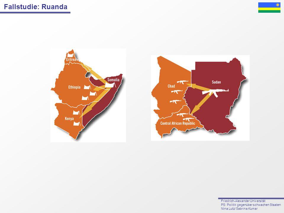 Fallstudie: Ruanda Friedrich-Alexander Universität PS: Politik gegenüber schwachen Staaten Nina Lutz/ Sabrina Kumar