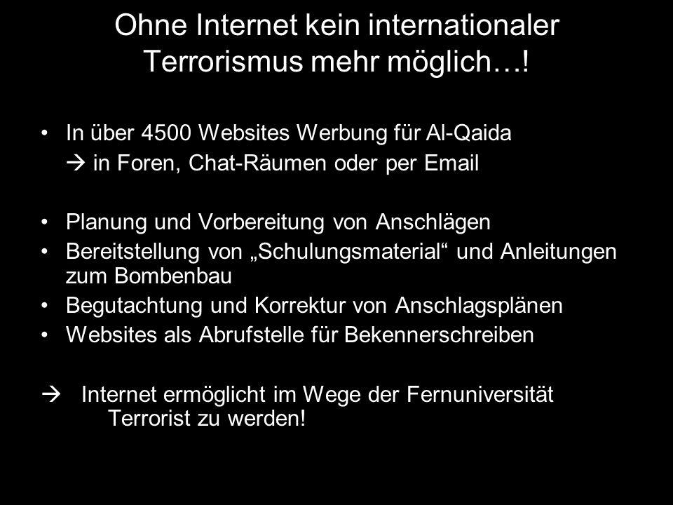 Überwachung des Internets durch… Bundesnachrichtendienst Verfassungsschützer der Länder Sonderermittler der Polizei Telekommunikations- Überwachungsverordnung (TKÜV)