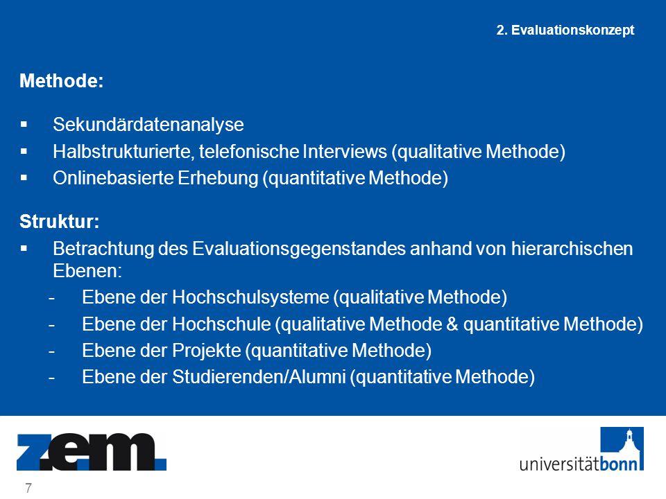 8 02. Juli 2014 2. Evaluationskonzept Datenquellen und zeitlicher Ablauf: