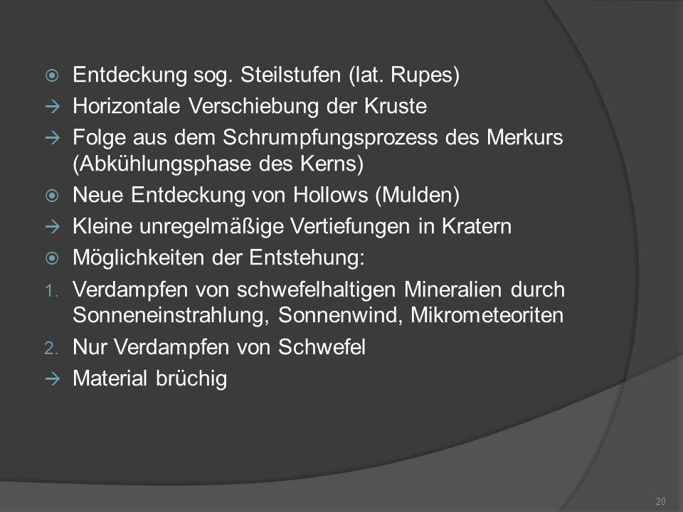  Entdeckung sog.Steilstufen (lat.