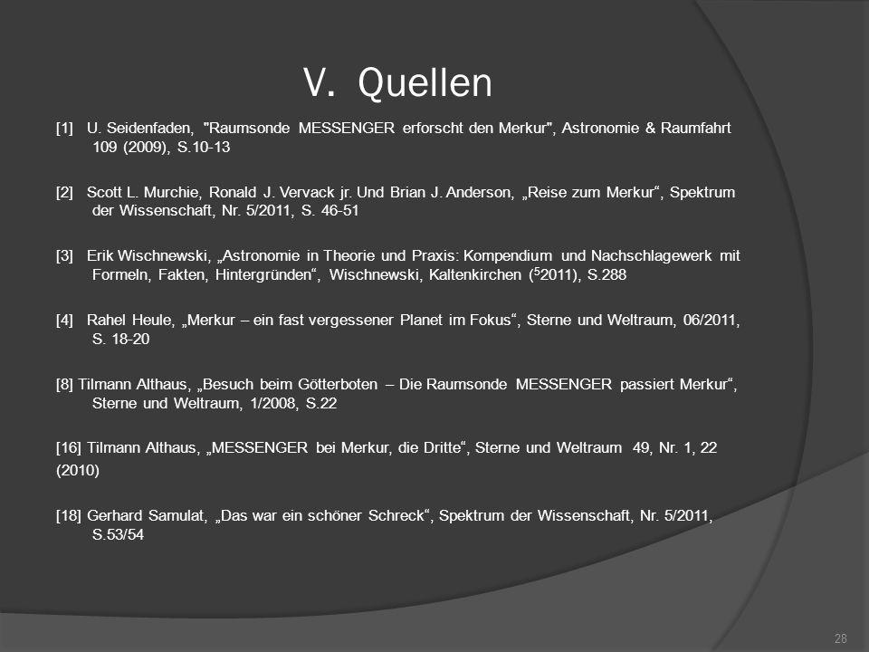 V.Quellen [1] U. Seidenfaden,