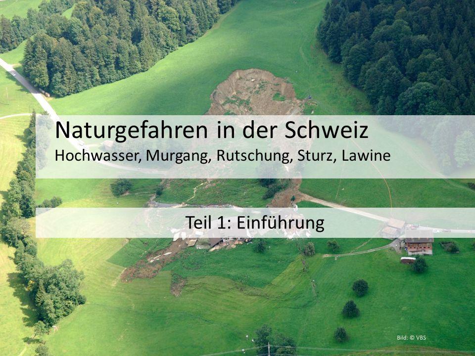 Naturgefahren in der Schweiz Hochwasser, Murgang, Rutschung, Sturz, Lawine Teil 1: Einführung
