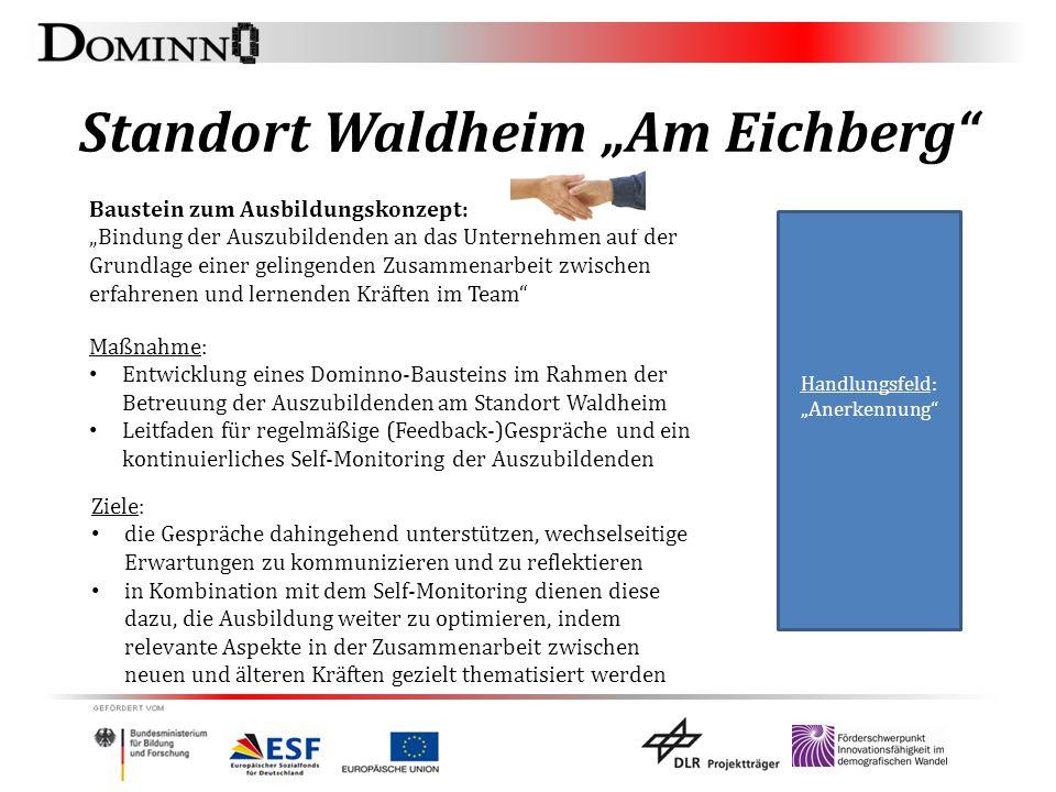 """Standort Waldheim """"Am Eichberg"""" Baustein zum Ausbildungskonzept: """"Bindung der Auszubildenden an das Unternehmen auf der Grundlage einer gelingenden Zu"""