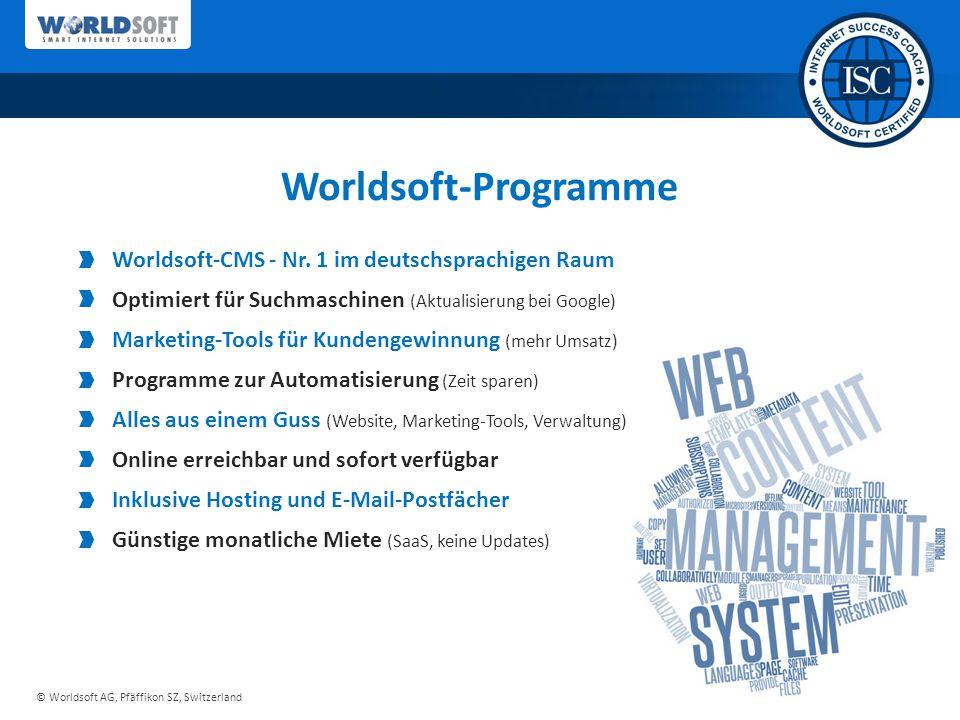 © Worldsoft AG, Pfäffikon SZ, Switzerland Worldsoft-Programme Worldsoft-CMS - Nr.