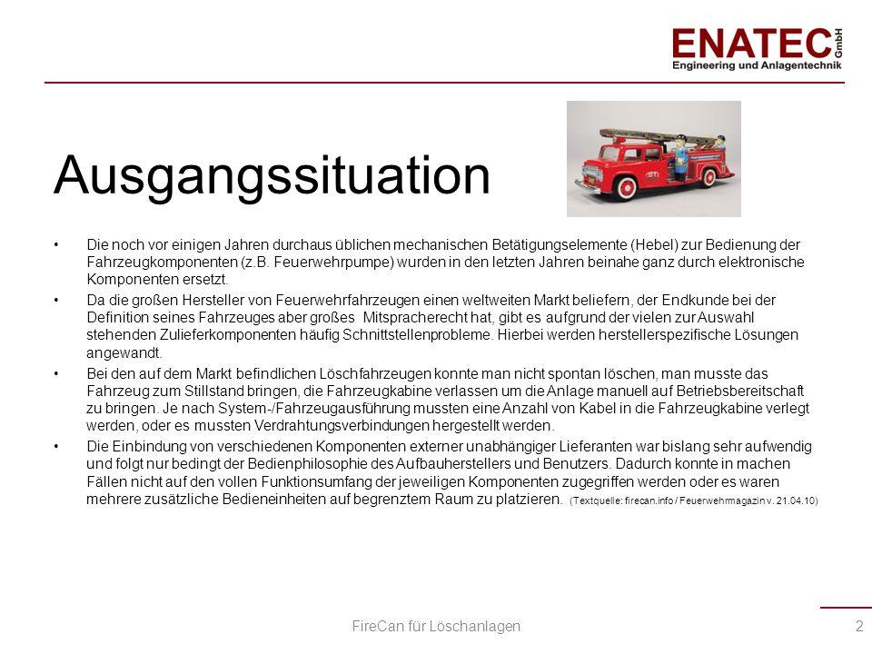Lösungsansatz Durch eine sehr enge Zusammenarbeit der Feuerwehraufbauhersteller im In- und EU-Ausland entstand die Idee zur FireCan.
