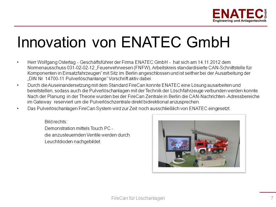 """Innovation von ENATEC GmbH Herr Wolfgang Ostertag - Geschäftsführer der Firma ENATEC GmbH - hat sich am 14.11.2012 dem Normenausschuss 031-02-02-12 """"F"""