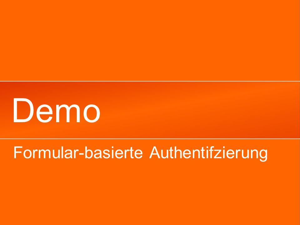 Demo Formular-basierte Authentifzierung