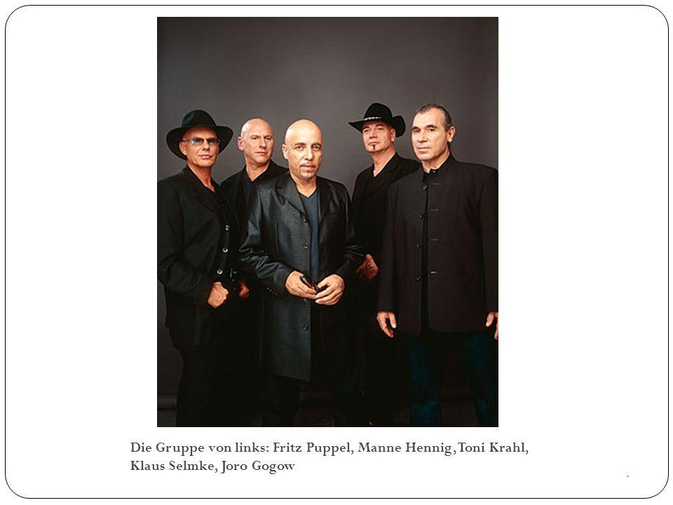 People. Die Gruppe von links: Fritz Puppel, Manne Hennig, Toni Krahl, Klaus Selmke, Joro Gogow