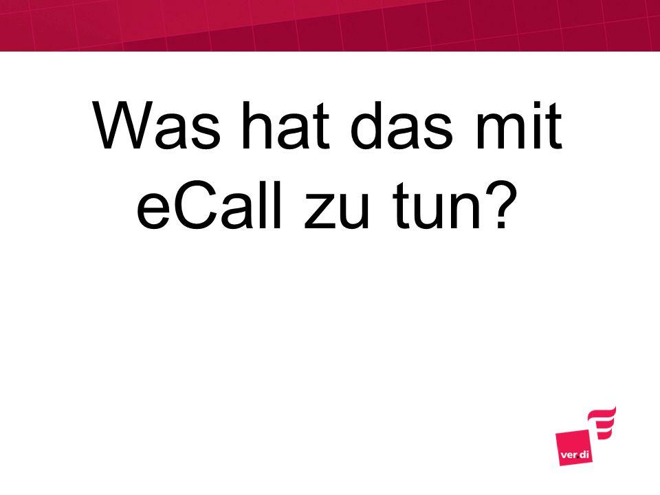Was hat das mit eCall zu tun?