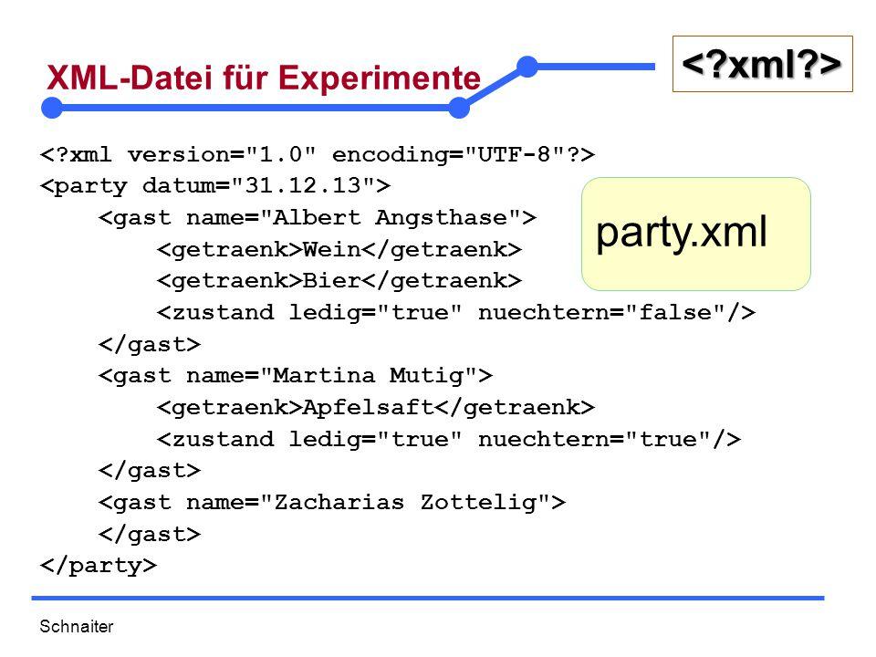Schnaiter <?xml?> XML-Datei für Experimente Wein Bier Apfelsaft party.xml