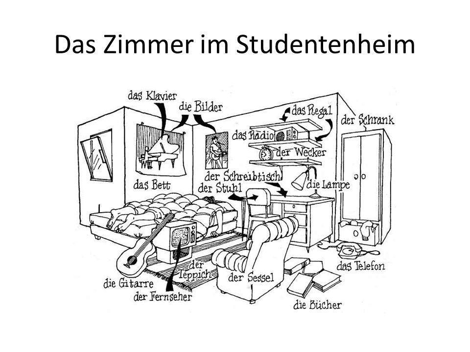 Das Zimmer im Studentenheim