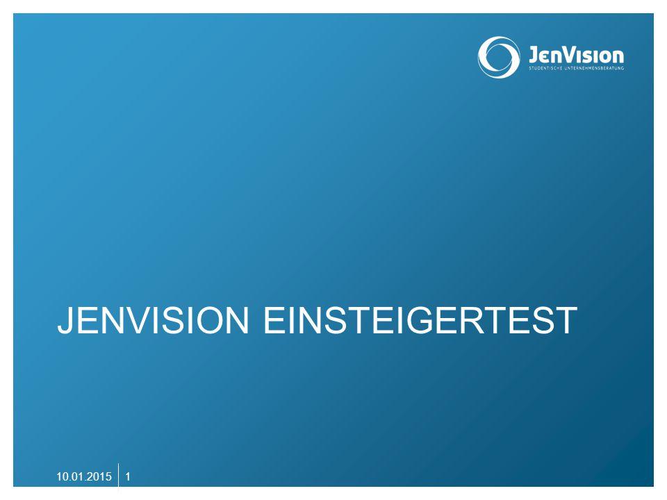 INTRO Wir freuen uns, dass du dich bei JenVision bewerben möchtest.