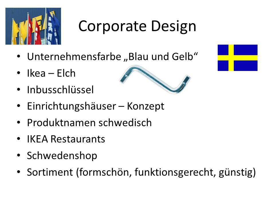 """Corporate Design Unternehmensfarbe """"Blau und Gelb"""" Ikea – Elch Inbusschlüssel Einrichtungshäuser – Konzept Produktnamen schwedisch IKEA Restaurants Sc"""