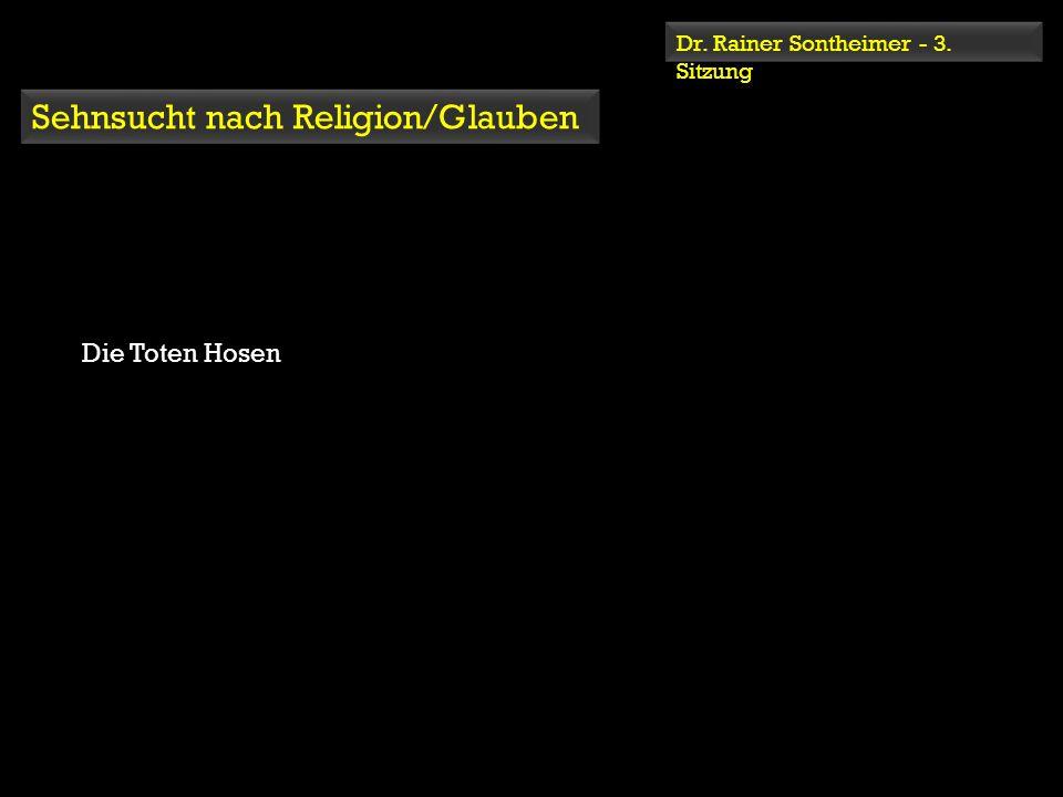 Dr. Rainer Sontheimer - 3. Sitzung Sehnsucht nach Religion/Glauben Die Toten Hosen