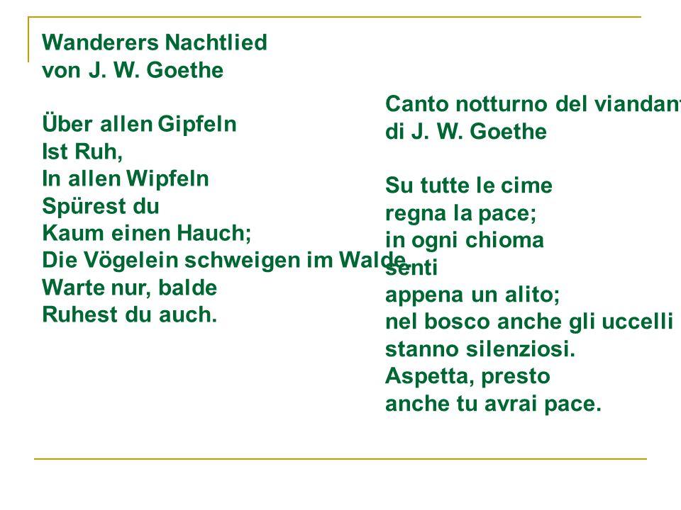 Wanderers Nachtlied von J.W.