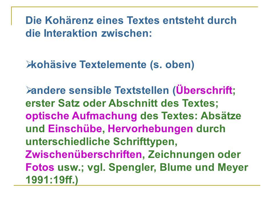  kohäsive Textelemente (s.