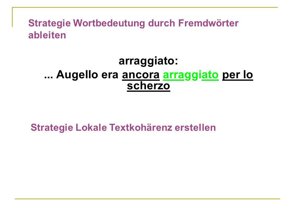 Strategie Wortbedeutung durch Fremdwörter ableiten arraggiato:...