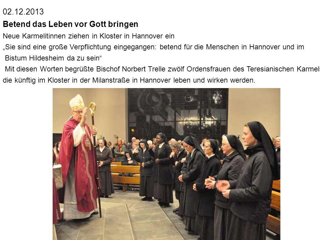 Bruder Karl, Sr. Sara, Sr. Marie-Therese, Bischof Norbert Trelle,Sr.Elisabeth, die Schwester von Bischof Trelle, Sr. Teresa Benedicta Somit fing alles
