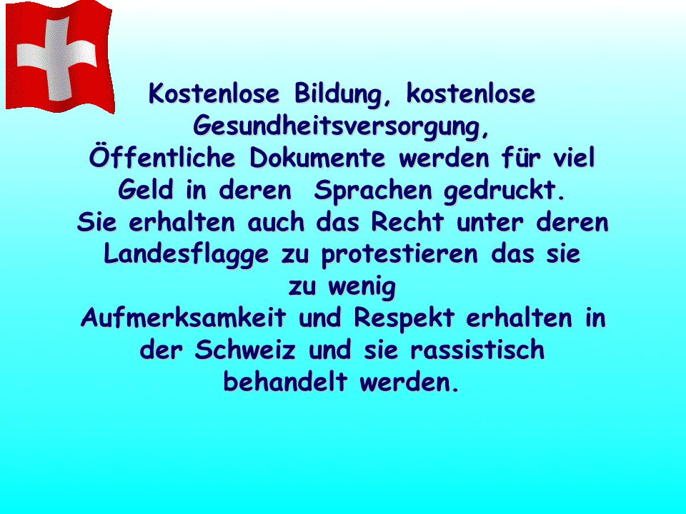 WENN jemand ILLEGAL IN die Schweiz einreist erhalten diese! Ein Job, ein Führerschein, Sozialversicherungskarte, Wohlfahrt, KREDITKARTEN, Subventionie