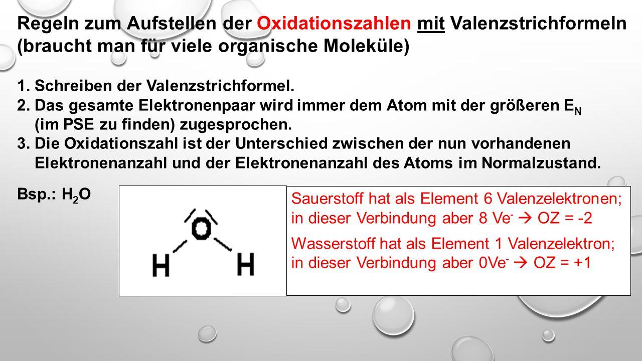 """Bestimmung der Oxidationszahlen Oxidationszahlen sind """"gedachte Ladungszahlen"""" (Wir tun so, als ob alle diese Verbindungen aus Ionen beständen, welche"""