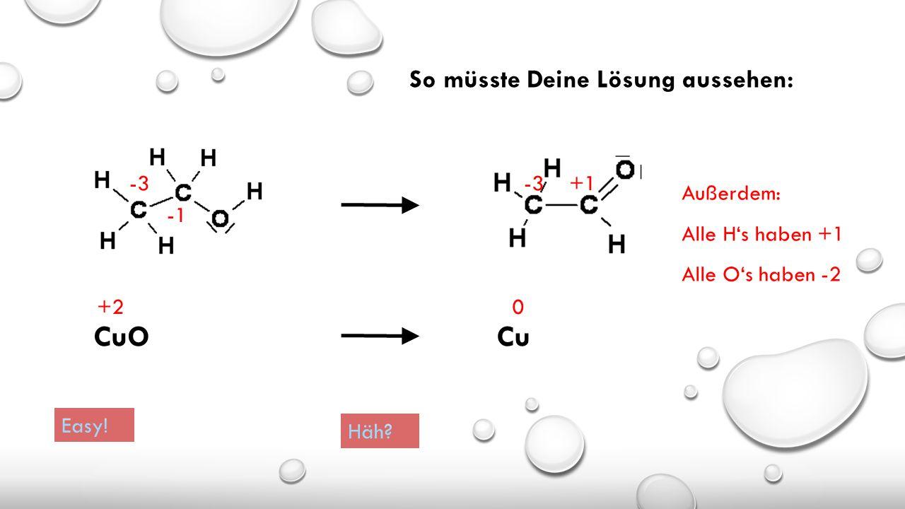 Regeln zum Aufstellen der Oxidationszahlen ohne Valenzstrichformel: 1.Ein Metallatom hat in einer Verbindung stets eine positive Oxidationszahl (oft d