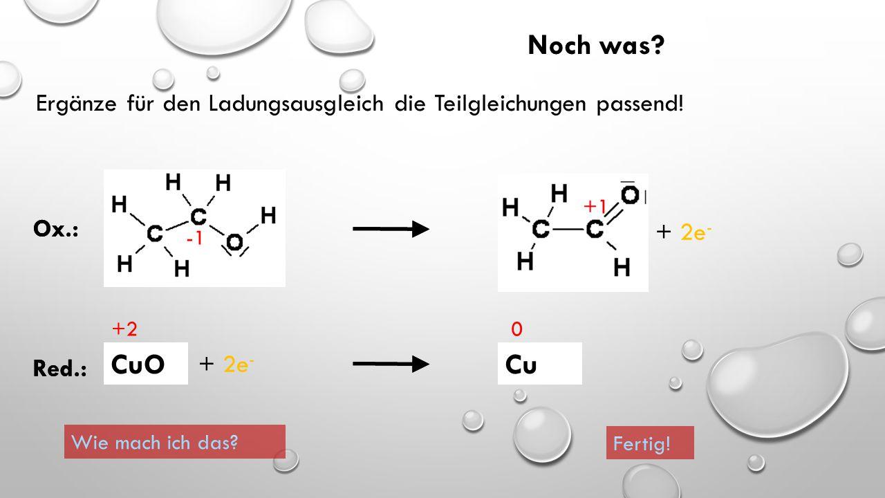 Wenn Mn zu MnO 2 wird, gibt das Mangan-Atom vier Elektronen ab 0 +4 Ox.: Mn  MnO 2 + 4e - wenn FeCl 2 zu Fe wird, nimmt das Eisen-Atom zwei Elektrone
