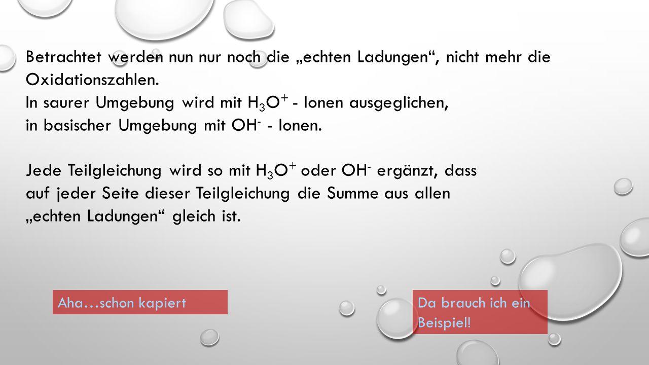 So müsste Deine Lösung aussehen: CuOCu +1 +2 0 Ox.: Red.: + 2e - + 2 H 3 O +