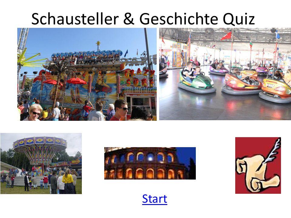 Schausteller & Geschichte Quiz Start
