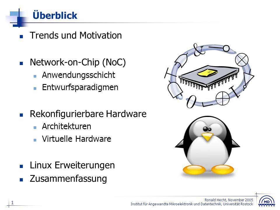 22 Ronald Hecht, November 2005 Institut für Angewandte Mikroelektronik und Datentechnik, Universität Rostock Hardware oder Software .