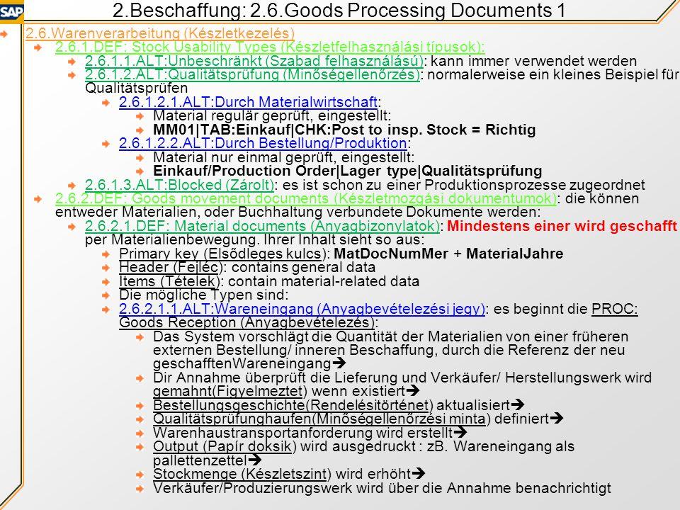Inhalt der Presentation 2.Beschaffung Scenario (Continued) 2.5.Beschaffungsprozess 2.5.1.MM: Bestellanforderung anlegen:ME51N 2.5.2.MM: Bestellung anl