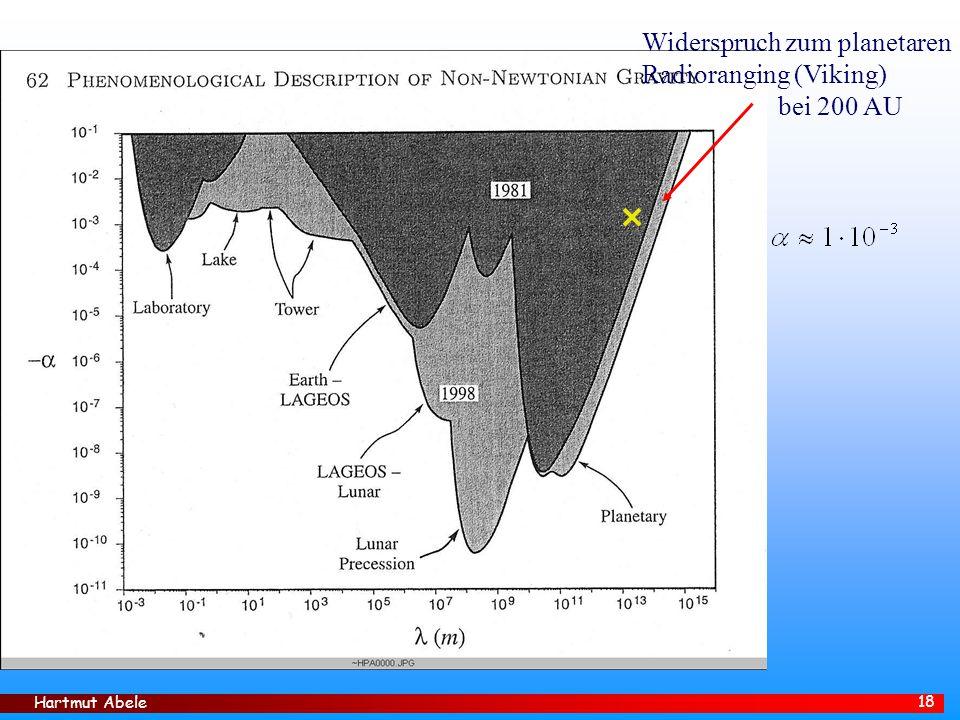 Hartmut Abele 18 Widerspruch zum planetaren Radioranging (Viking) bei 200 AU