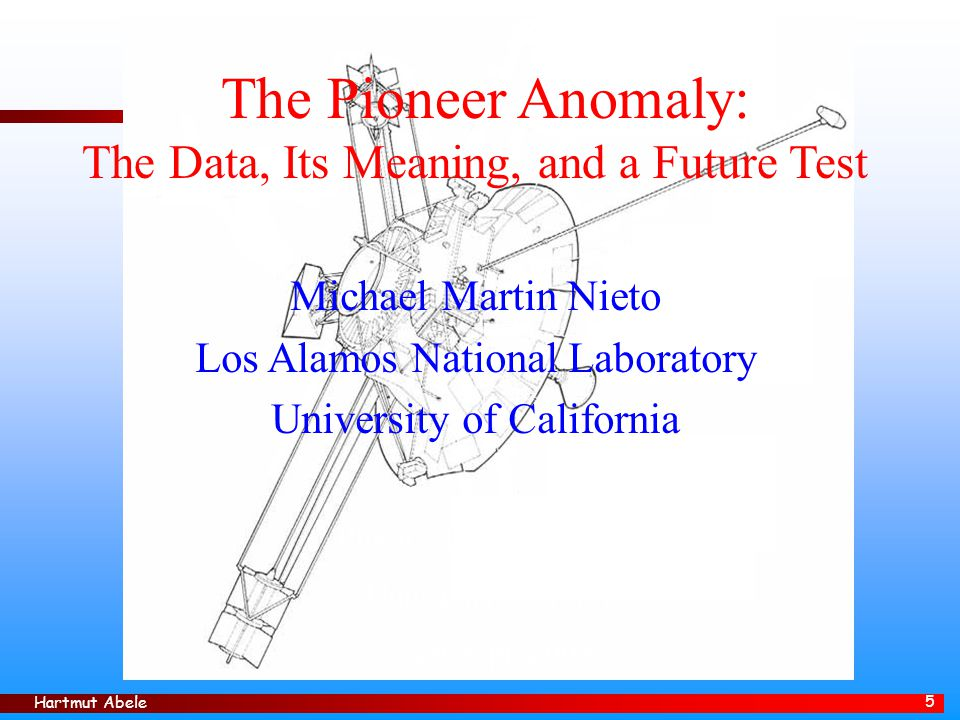Hartmut Abele 6 A) THE DATA Pioneer F (10) at the Cape Pioneer 10: 2 March 1972
